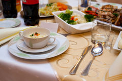 食物表 免版税库存照片