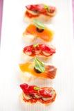 食物西班牙塔帕纤维布 库存照片