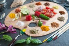 食物调色板概念 免版税库存图片