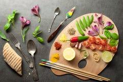 食物调色板概念 库存图片
