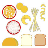 食物谷类项目金字塔 免版税库存照片