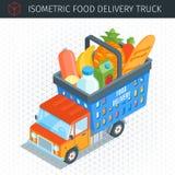 食物送货卡车 库存例证