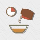 食物配制指示设计 皇族释放例证