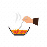 食物配制指示设计 库存例证