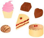 食物集合甜点 免版税库存照片