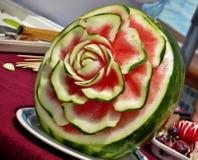 食物雕刻 免版税图库摄影