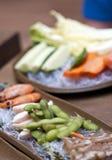 食物韩文餐馆 免版税库存照片