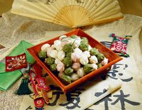 食物韩文 库存图片
