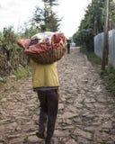 食物预习功课在埃塞俄比亚 免版税图库摄影