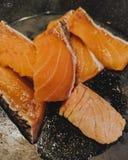 食物食用三文鱼的命令晚餐食物 库存照片