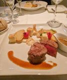 食物餐馆肉血液 库存照片