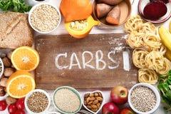 食物高在碳水化合物 免版税库存照片