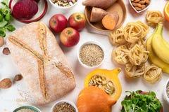 食物高在碳水化合物 库存图片