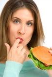 食物鲜美不健康 免版税库存照片