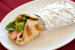食物黎巴嫩人manouche 免版税图库摄影