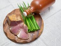 食物,烟肉,顶视图 免版税库存图片