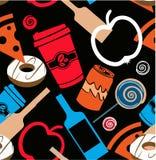 食物,酒,产物背景 免版税图库摄影