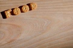 食物 可食的信件 免版税图库摄影