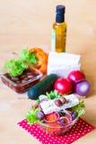 食物 希腊沙拉 库存照片