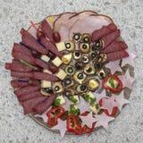 食物-开胃菜板材 免版税图库摄影