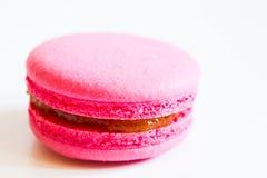 食物 蛋白杏仁饼干白色背景 免版税库存照片