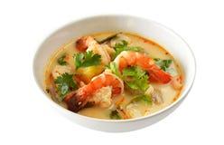 食物goong泰国汤姆yum 库存照片