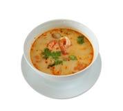 食物goong泰国汤姆yum 免版税库存照片