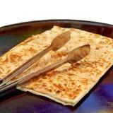 食物gozleme传统土耳其 库存图片
