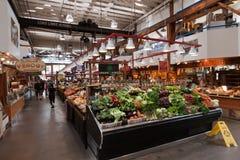 食物granville海岛市场温哥华 库存照片