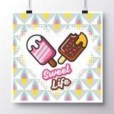 食物icons_poster_1 库存例证