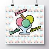 食物icons_poster_2 库存例证