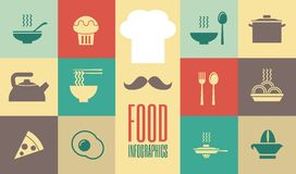 食物Infographic模板。 库存例证