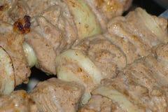 食物kebab 免版税库存图片