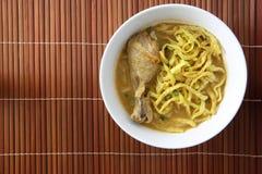 食物khao泰国面条的大豆 免版税库存图片