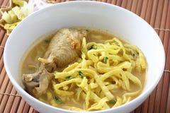 食物khao泰国面条的大豆 库存图片