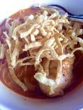 食物khao泰国面条的大豆 免版税库存照片