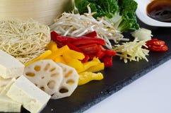 食物mein豆腐 图库摄影