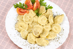 食物pelmeni 免版税库存照片