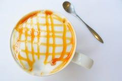 食用一杯咖啡 库存图片