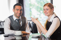 食用的商人咖啡 库存照片