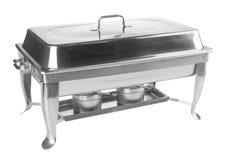 食盒,不锈钢在背景的食盒 库存照片