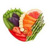 素食者和水果 库存图片