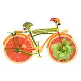 素食者城市自行车 免版税库存照片