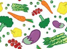 素食者无缝的样式 库存例证
