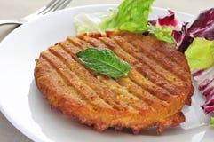 素食者汉堡 免版税库存图片