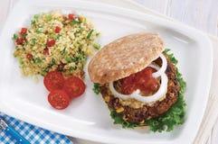 素食者汉堡 免版税库存照片
