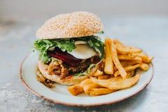 素食者汉堡 库存图片