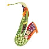 素食者萨克斯管 免版税库存照片