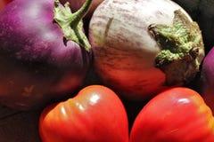 素食者Egglant-Tomatoes_1 库存照片