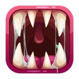 食肉动物的嘴app象 库存例证